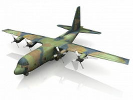 C-130 Hercules military transport aircraft 3d model
