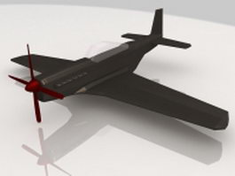 Vintage military aircraft 3d model