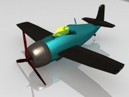 Old fighter plane 3d model