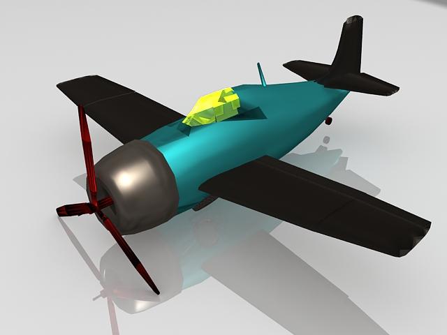 Old fighter plane 3d model 3ds max files free download - modeling