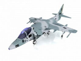 Harrier Jump Jet strike aircraft 3d model