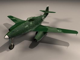 Me 262 Schwalbe fighter aircraft 3d model