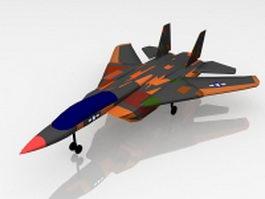 US military war fighter 3d model