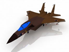Us Air Force fighter jet 3d model