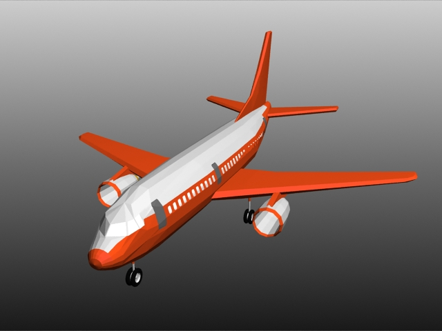 Passenger jet plane 3d model 3ds max files free download - modeling