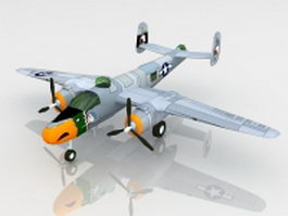 North American B-25 Mitchell medium bomber 3d model