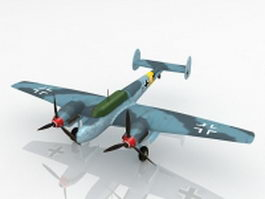 Bf 110 heavy fighter 3d model