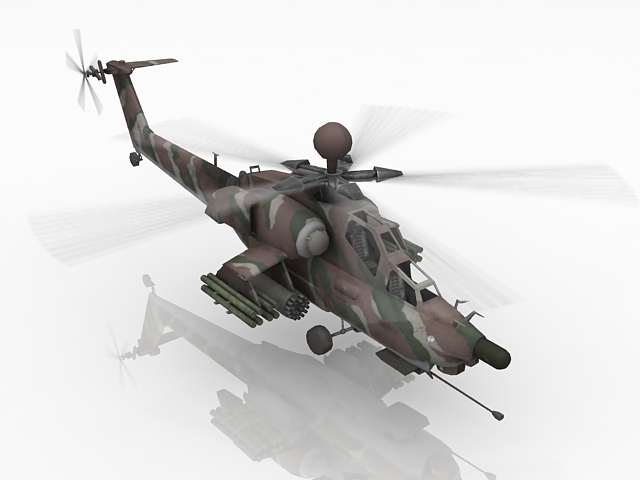 Animated Attack Helicopter 3d Model 3ds Max Files Free