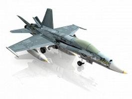 F18 fighter jet 3d model