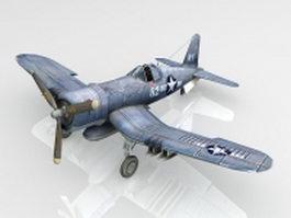 F4U Corsair fighter aircraft 3d model