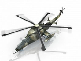 Chinese military attack helicopter 3d model