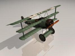 Fokker triplane 3d model