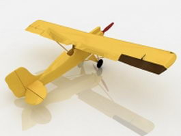 Early airplane 3d model