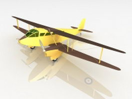 Dragon rapide aircraft 3d model
