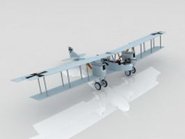 German WW1 Gotha IV Bomber 3d model