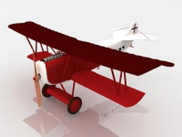 Fokker D.VII fighter aircraft 3d model