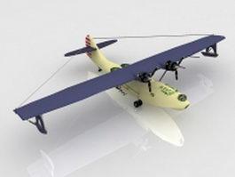 Navy PBY Catalina flying boat 3d model