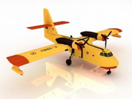 Canadair CL-215 firefighting amphibious aircraft 3d model