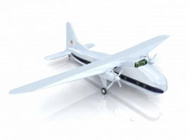 Bristol Superfreighter transport aircraft 3d model