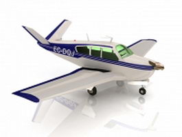 Beechcraft Bonanza airplane 3d model