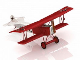 WW1 German fighter aircraft 3d model
