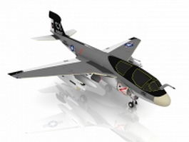 EA-6B Prowler aircraft 3d model