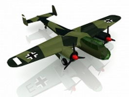 German Dornier Do 17 bomber 3d model