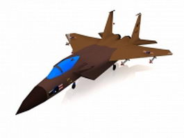 US Air Force F-15E strike fighter 3d model