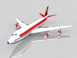 Boeing 747 jet airliner 3d model