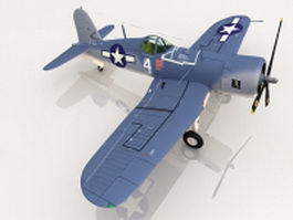 U.S. Navy F4U Corsair fighter aircraft 3d model