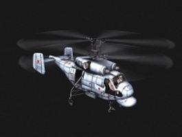 Kamov Ka-29 helicopter 3d model
