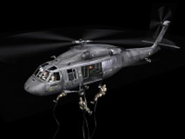 NH90 military helicopter 3d model
