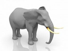 African bush elephant 3d model