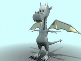 Cute cartoon dragon 3d model