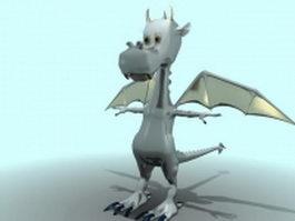 Cute cartoon dragon 3d model