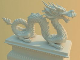 Traditional Chinese dragon statue 3d model