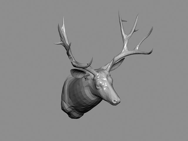 Deer Head 3d Model 3ds Max Files Free Download Modeling