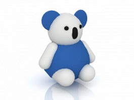 Cartoon teddy bear 3d model