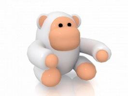 Cartoon orangutan 3d model