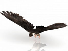 Flying falcon bird 3d model