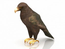Golden eagle bird 3d model