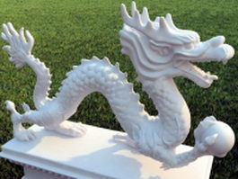 Chinese dragon outdoor statue 3d model