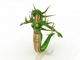 Humanoid snake female 3d model