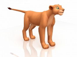 Adult Nala in Lion King 3d model