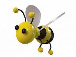 Bumble bee cartoon 3d model