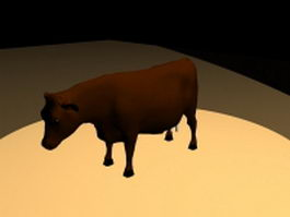 Brown dairy cattle 3d model