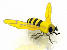 Yellow jacket hornet 3d model