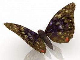 Brown butterfly 3d model