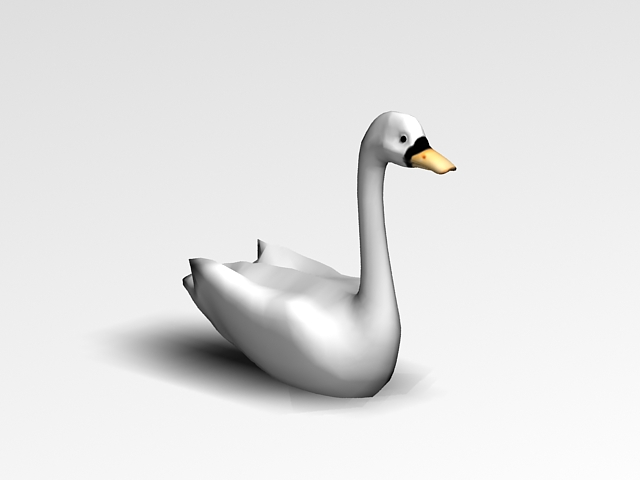 White Swan Bird 3d Model 3ds Max Files Free Download