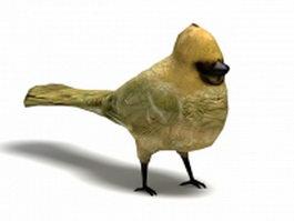 Yellow cardinal bird 3d model
